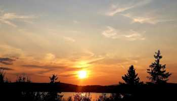Západ slunce nad Slezskou Hartou