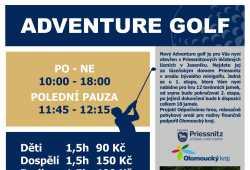 Bavte se královsky s adventure golfem