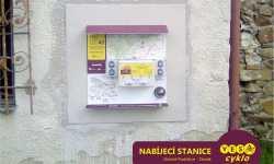 Nabíjecí stanice pro elektrokola - Zámek Slezské Rudoltice